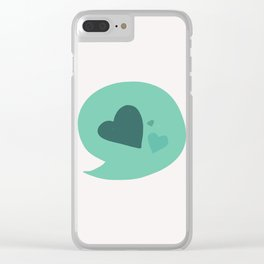 I only talk about love Clear iPhone Case