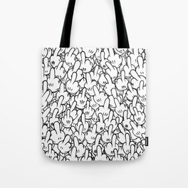 Middle fingers of Mickey Mouse Tote Bag