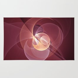 Movement, Abstract Wine Red Fractal Art Rug
