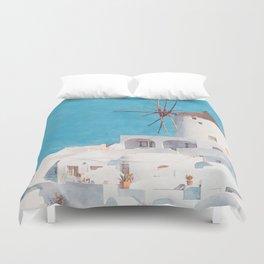 Mediterranean journey-Santorini Duvet Cover