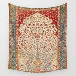 Kashan Central Persian Rug Print Wall Tapestry