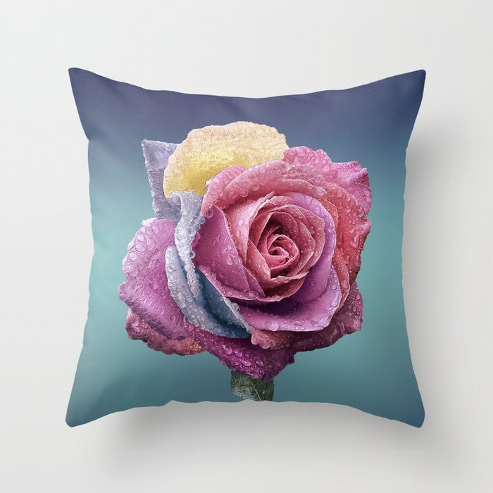 rose flower beauty 4 Throw Pillow