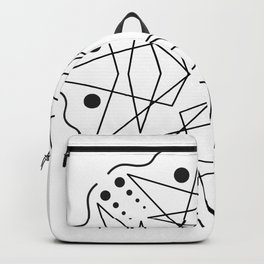 BLACK AND WHITE KALEIDOSCOPE Backpack