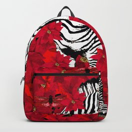 ZEBRA AND FLOWERS Backpack