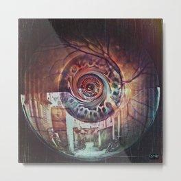 Eye Dreams Keep Quiet Metal Print