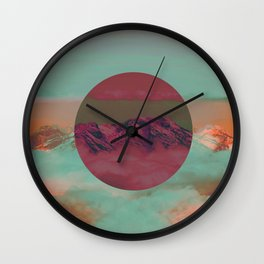 Zen Mountain \ Color Wall Clock