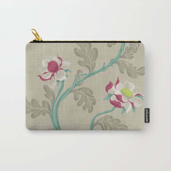 Filigree Floral Carry-All Pouch