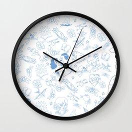 Tattooed Bob Wall Clock