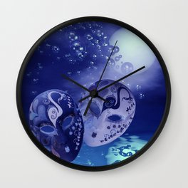 illusions in the night Wall Clock