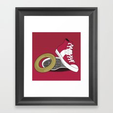 Sonic Converse - Red Framed Art Print