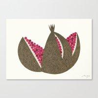 pomegranate Canvas Prints featuring Pomegranate by Ryo Takemasa