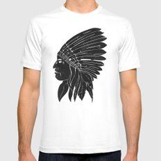 Chief / Black Edition Mens Fitted Tee MEDIUM White