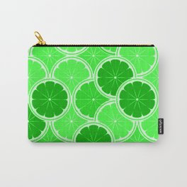 Lime Slices Carry-All Pouch