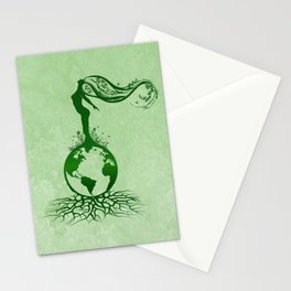 Mother Earth Day - Grunge Green 02 Stationery Cards