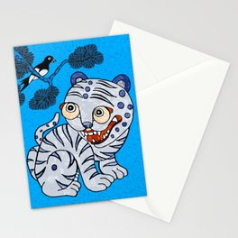 Tiger and magpie Stationery Cards