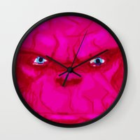 quibe Wall Clocks featuring Post-it Portrait: Ben Grimm by quibe