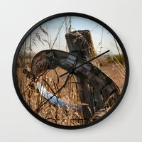 ufo Wall Clocks featuring UFO by IowaShots