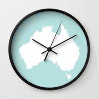 australia Wall Clocks featuring AUSTRALIA by EDENLAND