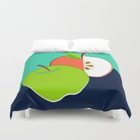apple Duvet Covers featuring Apple by Sam Osborne