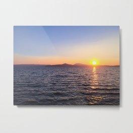 Summer Sunset on the Lake Metal Print