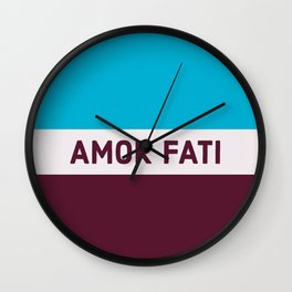 AMOR FATI - STOIC WISDOM Wall Clock