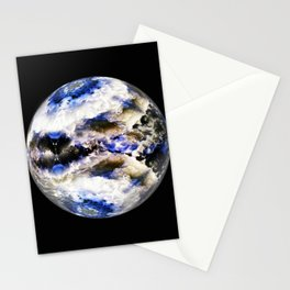 Globe19/For a round heart Stationery Cards