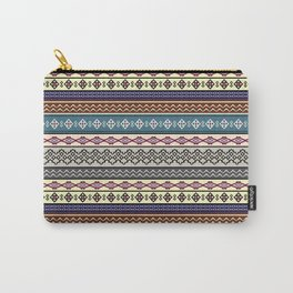 Modern Native Navajo Ethnic Tribal Pattern V.02 Carry-All Pouch