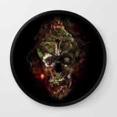 Skull Castle Wall Clock