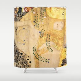 Water Serpents - Gustav Klimt Shower Curtain
