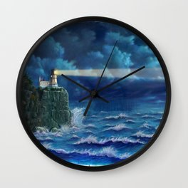 Split Rock Lighthouse, Duluth, MN Wall Clock