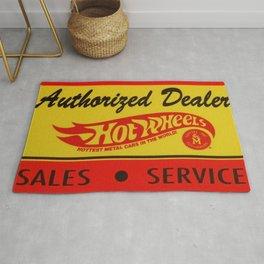 Vintage 1968 Authorized Dealer Hot Wheels Redline Sign Rug