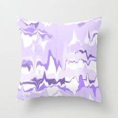 Marbled in orchid Throw Pillow