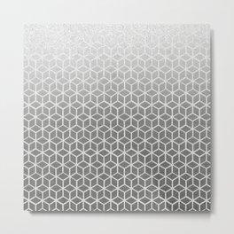 Cubes pattern black glitter Metal Print