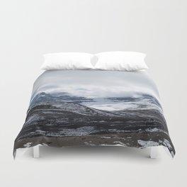Jasper Glaciers   Landscape Photography   Mountains and Clouds   Skyscape Duvet Cover