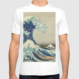 Ukiyo-e, Under the Wave off Kanagawa, Katsushika Hokusai T-shirt