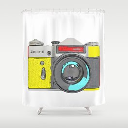 Pop Art Vintage Camera Shower Curtain