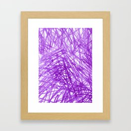 Ophelia Purple Framed Art Print
