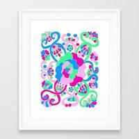 "beth hoeckel Framed Art Prints featuring ""Beth"" by Ma'at Silk"