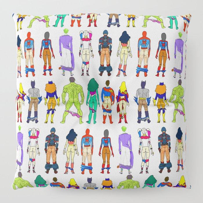 Superhero Butts - Power Couple Floor Pillow