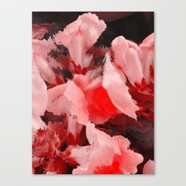 Red and Pink Snapdragons Floral Abstract Canvas Print