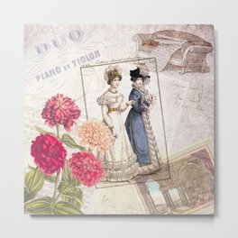 Duo for Piano and Violin Metal Print