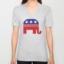 Colorado Republican Elephant Unisex V-Neck