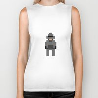 robocop Biker Tanks featuring Robocop by Pixel Icons