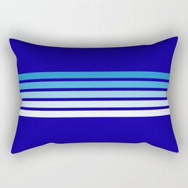 Retro Stripes on Blue Rectangular Pillow