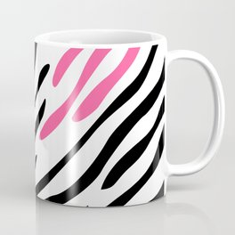 Zebra print. Pink Coffee Mug