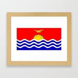 Kiribati country flag Framed Art Print
