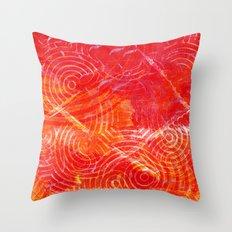 Firery Circling Throw Pillow