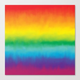 Watercolor Rainbow Canvas Print
