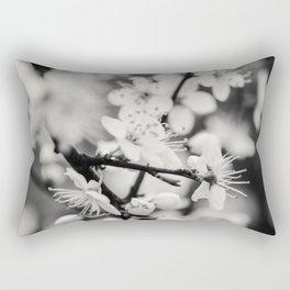White Flowers Rectangular Pillow