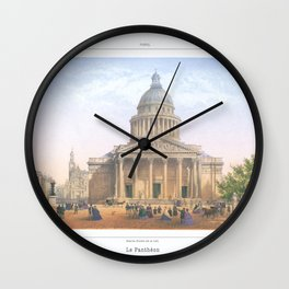 Paris Decor office decoration vintage decor LE PANTHEON of Paris Wall Clock